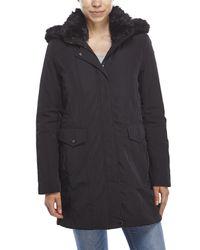 Marc New York | Black Faux Fur Trim Hooded Parka | Lyst