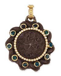 Armenta - Brown Old World Spiral Coin Locket With Tourmaline & Diamonds - Lyst