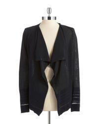 Calvin Klein | Black Open Front Cardigan | Lyst