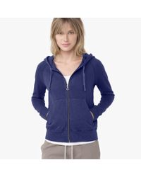 James Perse - Blue Vintage Fleece Long Sleeve Hoodie - Lyst