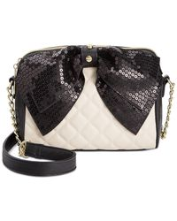 Betsey Johnson | Natural Macy's Exclusive Sequin Bow Crossbody | Lyst