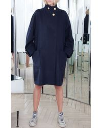 Alexis Mabille - Blue Wool Cashmere Oversized Coat - Lyst
