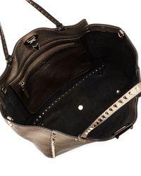 Valentino - Rockstud Metallic East-West Tote Bag - Lyst
