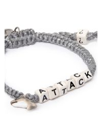 Venessa Arizaga | Gray 'shark Attack' Bracelet | Lyst