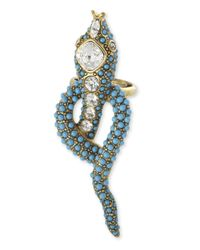 Kenneth Jay Lane | Blue Turquoise Snake Ring | Lyst
