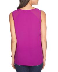 1.STATE | Purple Scoopneck Shell | Lyst