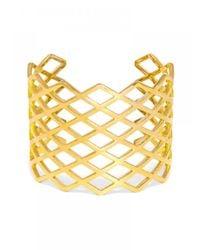 BaubleBar | Metallic Network Cuff | Lyst
