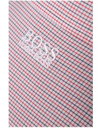 BOSS Green | Red Regular-fit Casual Cotton Shirt 'c-burke' for Men | Lyst