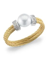 Charriol | Metallic Diamondstation Pearl Yellowcable Ring Size 65 | Lyst