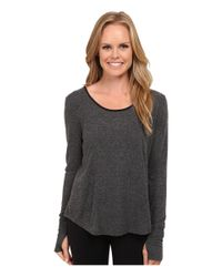 Alo Yoga - Gray Lotus Fleece Long Sleeve Top - Lyst