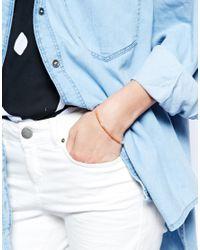 ASOS - Orange Sterling Silver Bead Friendship Bracelet - Lyst