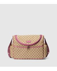 5da8b184e7bec3 Gucci Original Gg Canvas Diaper Bag in Purple - Lyst