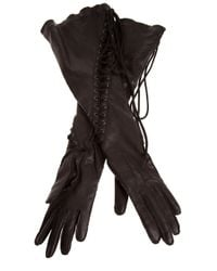 Ann Demeulemeester | Black Lace-up Glove | Lyst