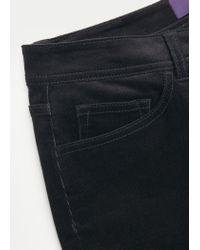 Violeta by Mango | Black Flared Corduroy Trousers | Lyst