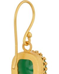 Kevia - Green Gold-Plated Emerald Earrings - Lyst
