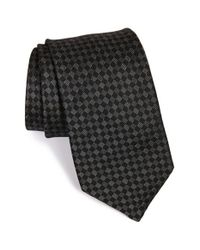 Michael Kors | Black Grid Silk Tie for Men | Lyst