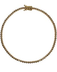 Paul Morelli | Metallic Gold Cognac Diamond Pinpoint Stitch Bracelet | Lyst