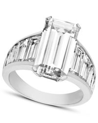 Arabella | Metallic Swarovski Zirconia Emerald-cut Ring (14-1/4 Ct. T.w.) | Lyst