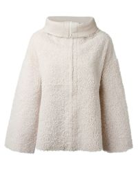 JOSEPH - White Loose-Fit Lambskin and Fur Jacket  - Lyst