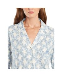 Ralph Lauren - Blue Floral-plaid Cotton Pajama Set - Lyst