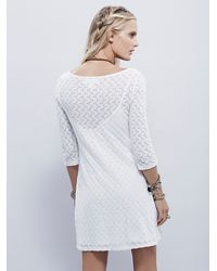 Free People - White Gains Bourg Mini - Lyst