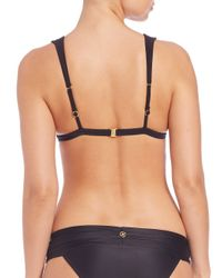 ViX - Solid Black Matelasse Bikini Top - Lyst