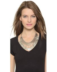 Raga - Metallic Coin Necklace - Silver - Lyst