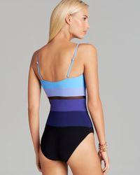 Gottex - Blue Rio Surplice One Piece Swimsuit - Lyst