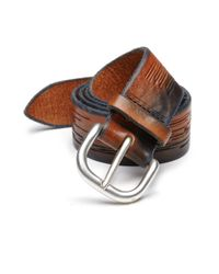 Orciani   Black Textured Leather Belt for Men   Lyst