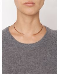 Miansai - Brown Thin Fish Hook Necklace - Lyst