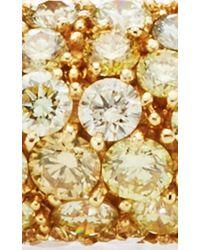 Nina Runsdorf | Metallic One Of A Kind 18k Yellow Gold Diamond Bangle | Lyst
