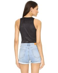 Glamorous - Black Lace Up Bodysuit - Lyst