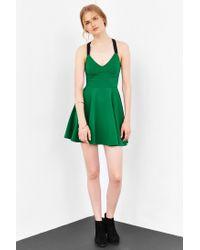 Silence + Noise - Green Emerald City Wide-strap Mini Dress - Lyst
