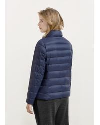 Violeta by Mango | Blue Quilted Feather Coat | Lyst