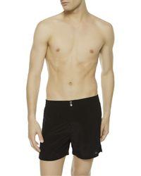 La Perla | Black Boxer Shorts With Button Fastening for Men | Lyst