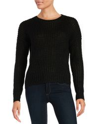 Sam Edelman | Black Hi-lo Knit Sweater | Lyst