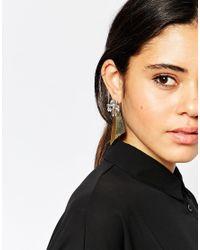 ASOS - Metallic Statement Shard & Occasion Swing Earrings - Lyst