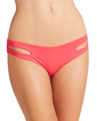 L*Space | Red Estella Bikini Bottom | Lyst