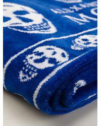 Alexander McQueen | Blue Skull Towel | Lyst