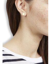 Marc By Marc Jacobs | Metallic Gold Tone Disc Stud Earrings | Lyst
