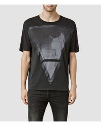 AllSaints | Black Pyramid Crew T-shirt for Men | Lyst