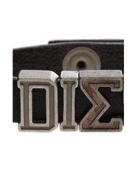 DIESEL | Black Askyt Larfe Logo Bracelet for Men | Lyst