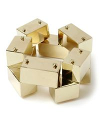 Robert Lee Morris | Metallic Iconic Block Bracelet | Lyst