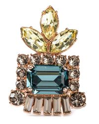 Mawi - Multicolor Embellished Cocktail Ring - Lyst