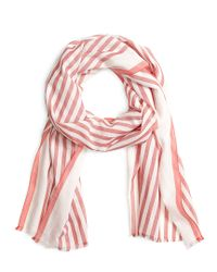 Brooks Brothers | Red Stripe Scarf for Men | Lyst