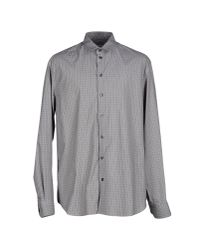 Armani - Gray Shirt for Men - Lyst