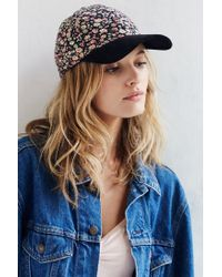 Urban Outfitters - Blue Printed Corduroy Baseball Hat - Lyst