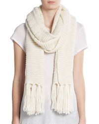 Vince Camuto | Natural Dropped Stitch Scarf | Lyst