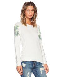 All Things Fabulous - White Print-Detail Jersey Sweatshirt - Lyst