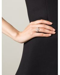 V Jewellery - Metallic 'lateral' Ring - Lyst